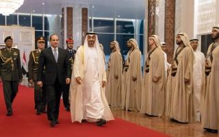 الصورة: محمد بن زايد: علاقات الإمارات ومصر استراتيجية.. ولدينا إرادة مشتركة لتعزيزها