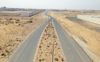 الصورة: هيئة الطرق والمواصلات  في الشارقة تنتهي من إنجاز الطريق المؤدي إلى سوق المواشي بالصجعة الصناعية