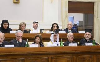 الصورة: سيف بن زايد أمام قمة الأديان بالفاتيكان: الإمارات حريصة على التعايش السلمي ونشر التسامح