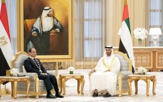 الصورة: الإمارات ومصر يسعيان إلى تحقيق آمال وتطلعات الشعبين