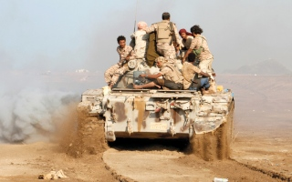 الصورة: الجيش اليمني يتقدم باتجاه مركز مديرية باقم بصعدة
