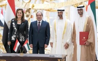 الصورة: محمد بن زايد والسيسي يشهدان تأسيس منصّة استثمارية بـ 20 مليار دولار