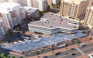 الصورة: إنشاء محطة للحافلات في السطوة ومبنى مواقف بعود ميثاء