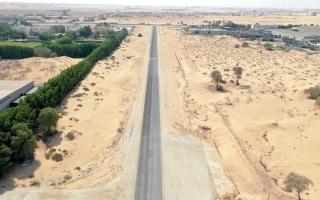الصورة: إنجاز طريق «سوق المواشي» في الصجعة الصناعية  بكلفة 7.9 ملايين درهم