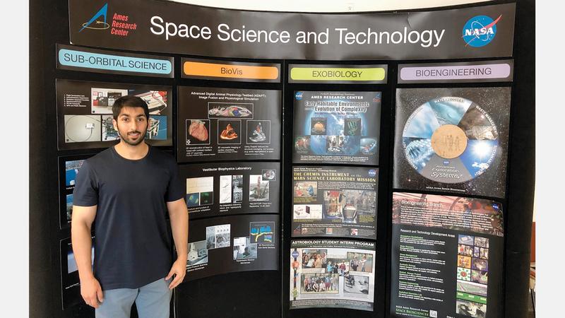 إبراهيم عمل على تطوير مواد بالمركبات الكربونية خلال مهمته في «ناسا». من المصدر