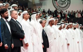 الصورة: خالد بن محمد بن زايد يفتتح بطولة العالم للجوجيتسو
