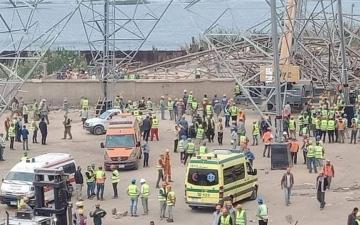 الصورة: مصر.. قتلى وجرحى إثر «انهيار» برج كهرباء بالجيزة
