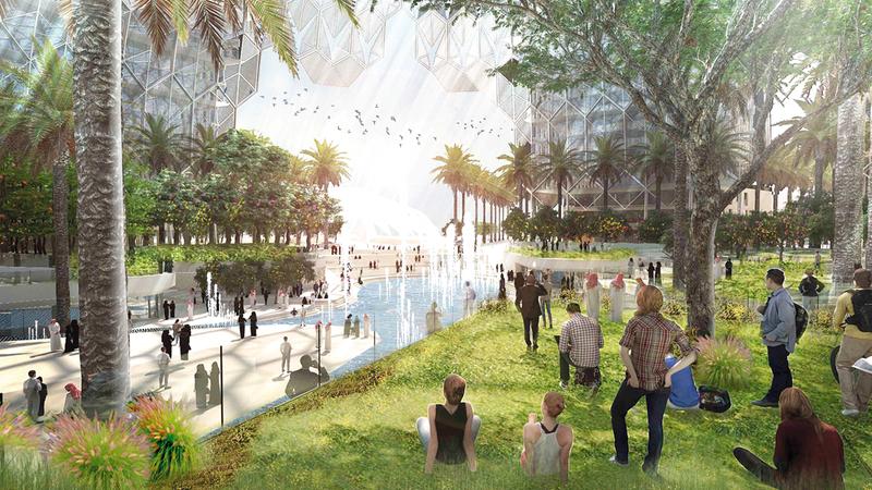 الخدمات المقدّمة لزوّار «إكسبو 2020 دبي» تشمل شاشات رقمية وحجز الخدمات عن بُعد. أرشيفية