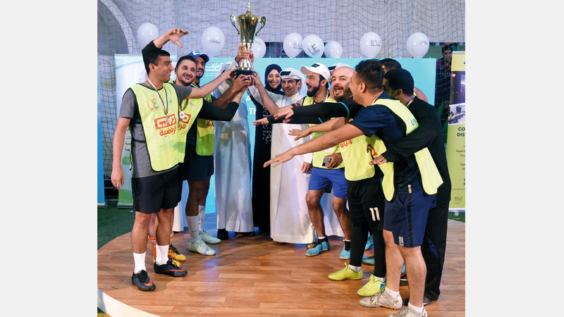 تتويج «دبي الرياضية» بلقب النسخة الأولى. من المصدر