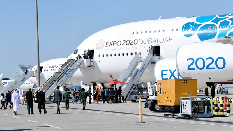 الدراسة التي كشف عنها خلال معرض دبي للطيران أفادت بأن الشحن الجوي يمثل 35% من قيمة الشحن العالمي.  تصوير: باتريك كاستيلو