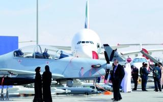 الصورة: شراء 23 طائرة تجارية ومروحية  في اليوم الأول من «دبي للطيران»