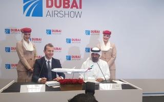 الصورة: »طيران الإمارات» تبرم صفقة لشراء 50 طائرة «إيرباص« (A350) بقيمة 16 مليار دولار