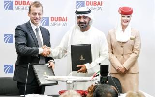الصورة: «طيران الإمارات»: طلبية لشراء 50 طائرة «A350» بـ 58.7 مليار درهم