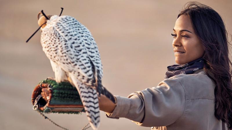 الممثلة ورائدة الأعمال زوي سالدانا. من المصدر