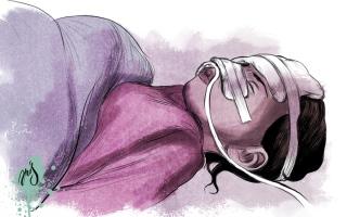 الصورة: «رهف» تعاني سرطان العظم وتحتاج إلى 7000 درهم كلفة أشعة