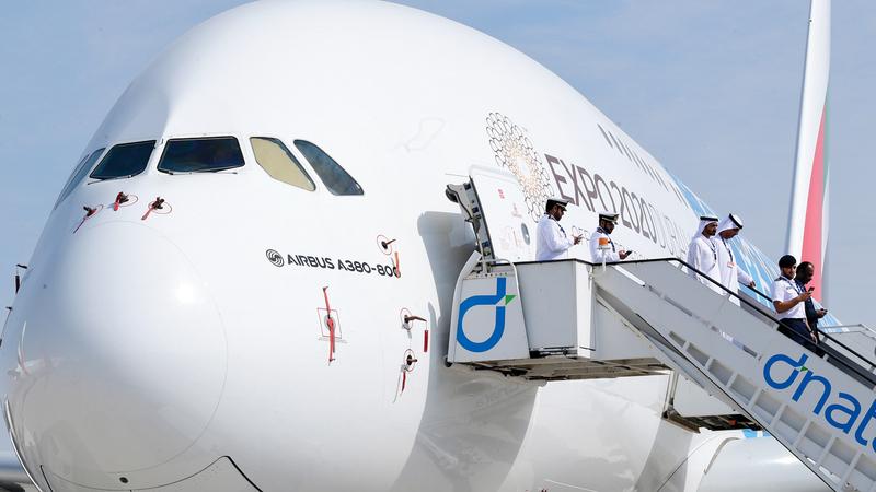 «إيرباص» فازت بصفقات لبيع 220 طائرة. تصوير: باتريك كاستيلو