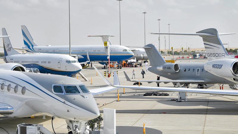 صفقات اليوم الثاني من «دبي للطيران 2019» سجلت 114.6 مليار درهم. تصوير: أشوك فيرما