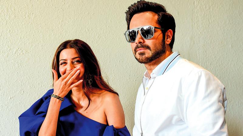 ممثلة بوليوود الشهيرة فيديكا برفقة الممثل عمران هاشمي، خلال الحفل الترويجي لفيلمها الجديد «ذي بودي» الذي يبدأ عرضه قريباً في مومباي. إي.بي.إيه