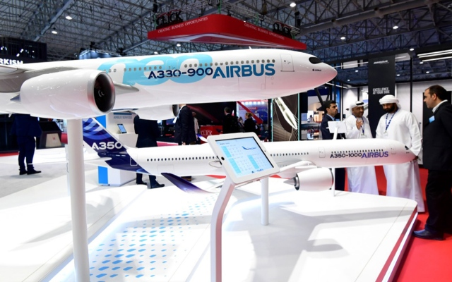 """الصورة: بالأرقام.. طلبيات """"إيرباص"""" و""""بوينغ"""" خلال معرض دبي للطيران"""