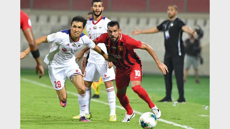 الشارقة في مفترق طرق كأس الخليج العربي اليوم. تصوير: أسامة أبوغانم
