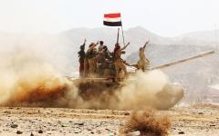 الصورة: القوات المشتركة تتوغل في منــاطق سيطرة الحوثيين بين محافظتي الضالـع وإب