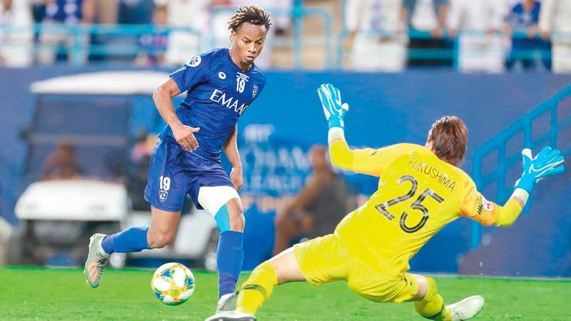 كاريلو سجل هدف الفوز للهلال في لقاء الذهاب. من المصدر