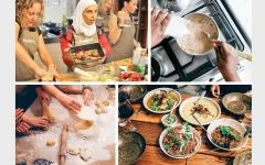 الصورة: لاجئات استخدمن مهاراتهن في الطهي ليحققن نجاحاً كبيراً