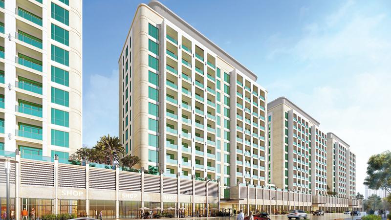 المشروع الاستثماري العقاري عبارة عن 4 مبانٍ تجارية وسكنية تمتد إلى 10 طوابق في مقر النادي بعود ميثاء. من المصدر