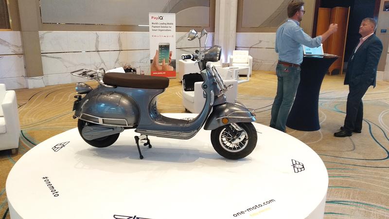 الدراجة الكهربائية عرضتها شركة إماراتية. من المصدر