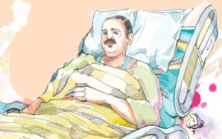 الصورة: متبرّع يتكفل بأدوية «أبوحنين» لمدة 6 أشهر