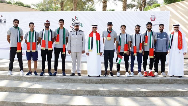 احتفالية دائرة تنمية المجتمع ومجلس أبوظبي شهدت العديد من الفقرات التراثية والوطنية. من المصدر