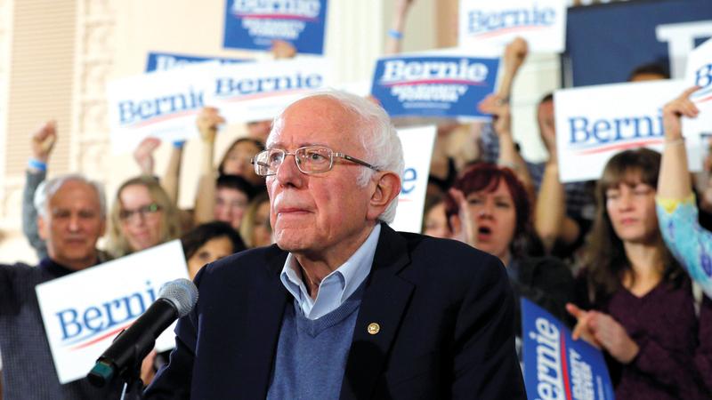 ساندرز يرفض تسخير أموال المليارديرات في الانتخابات الرئاسية.  رويترز