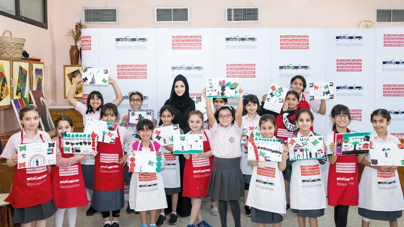 الورشتان نُظمتا ضمن مبادرة الفن في المدارس. من المصدر