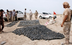 الصورة: مسؤول يمني يكشف توسع الميليشيات في صناعة الألغام