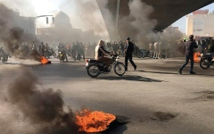 الصورة: الاحتجاجات الإيرانية علامة على أن عقوبات ترامب موجعة