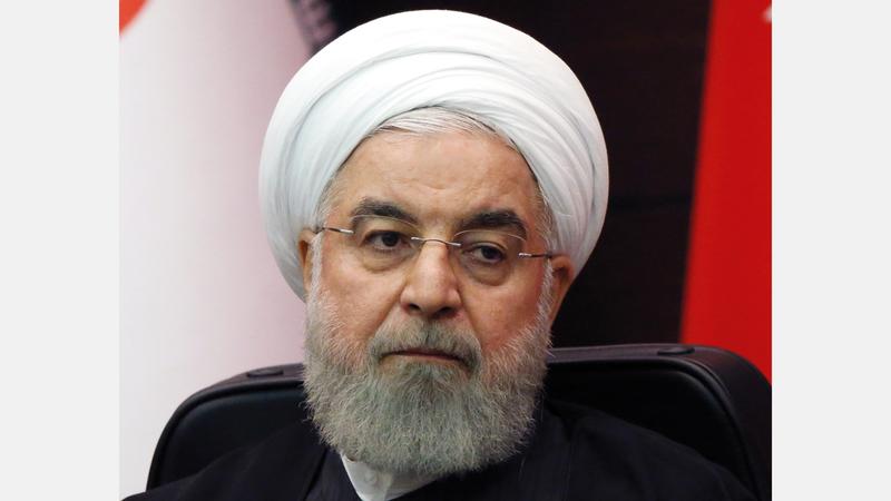 روحاني اعتبر الولايات المتحدة هي المسؤولة عن اندلاع الاحتجاجات في بلاده. غيتي