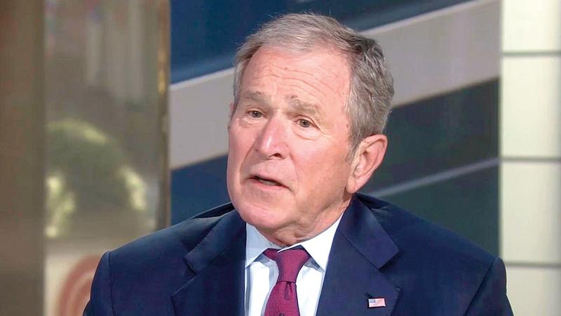 صادق بوش الابن والكونغرس على خطة الحكومة الإسرائيلية بقيادة شارون تقضي بضم جميع المستوطنات الإسرائيلية إلى إسرائيل. أرشيفية