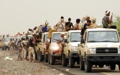 الصورة: القوات اليمنية المشتركة تواصل التوغل في مديرية الحشاء على تخوم إب
