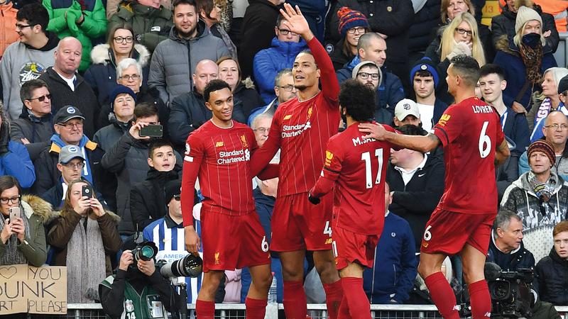 ليفربول يأمل مواصلة التقدم في صدارة الدوري الإنجليزي. أ.ف.ب