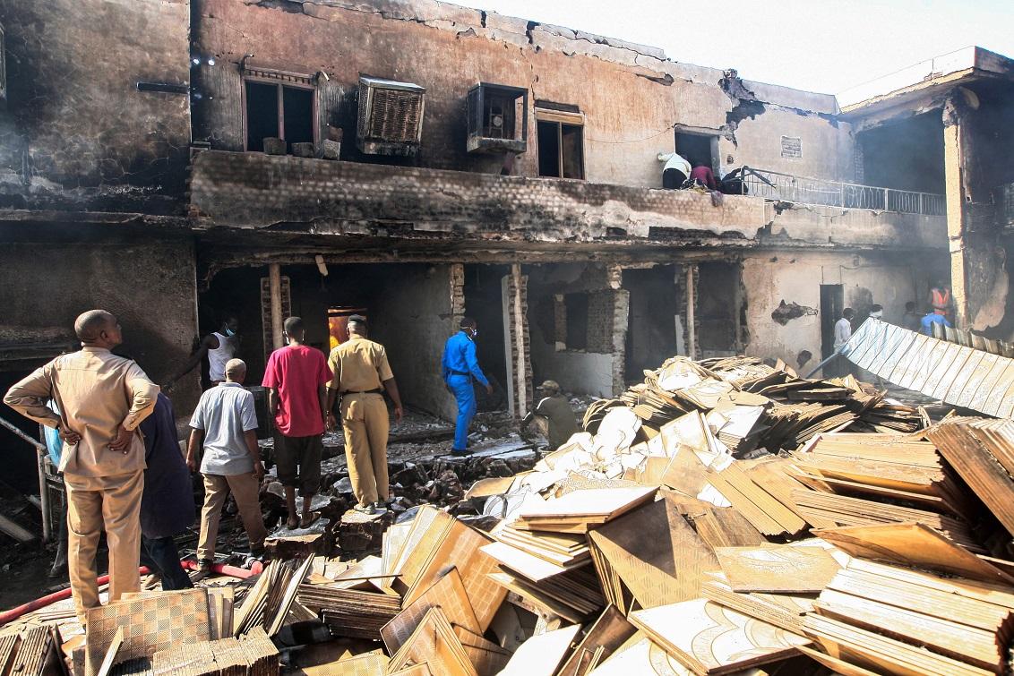 حريق مصنع السيراميك في الخرطوم - أ. ف. ب