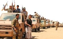 الصورة: القــوات المشتركة والجنــوبيــــة تفشل 15 هجوماً للميليشيات في الضالع