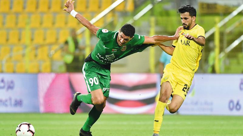 الوصل خسر أمام مدربه السابق 3 مرات أكبرها 1-5 في نصف نهائي الكأس الموسم الماضي.  تصوير: أسامة أبوغانم