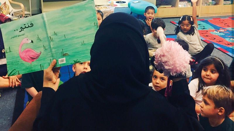 نورة الخوري دخلت عالم الكتابة للأطفال رغم دراستها علوم البيئة.  الإمارات اليوم