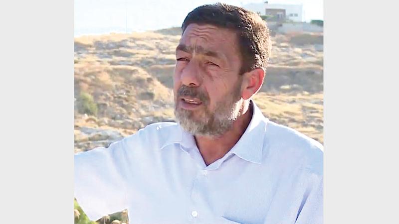 رئيس لجنة أهالي حي وادي الحمص حمادة حمادة. من المصدر