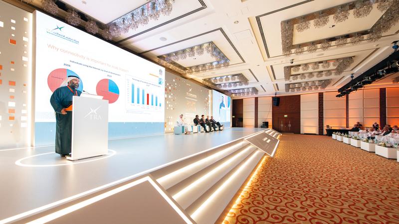 العوضي توقع خلال المؤتمر أن يكون في المنطقة 45 مليون متصل بشبكة الجيل الخامس بحلول 2025.  من المصدر