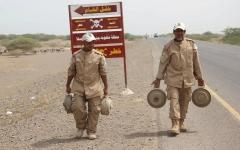 الصورة: إتلاف 7778 لغماً وقذيفة في مديرية المخاء غرب اليمن