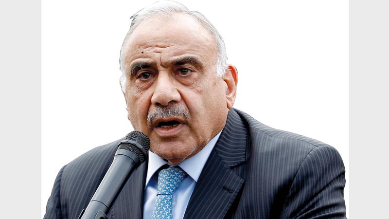 رحيل عادل عبدالمهدي يعد انتصاراً رمزياً بالنسبة لانتفاضة المتظاهرين.  رويترز
