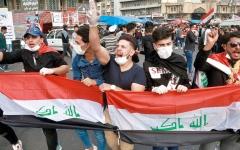 الصورة: استقالة رئيس الحكومة العراقية لن توقف التظاهرات