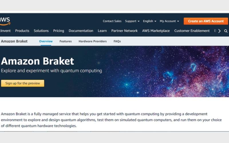 الصورة: «أمازون» تطلق خدمة «براكيت» للحوسبة الكمية