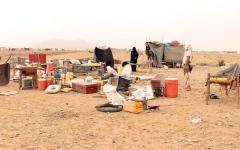 الصورة: 393 ألف نازح في اليمن منذ بداية 2019